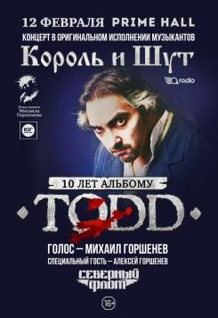 Концерт 10 лет альбому TODD в Минске 12 января – анонс и билеты на концерт